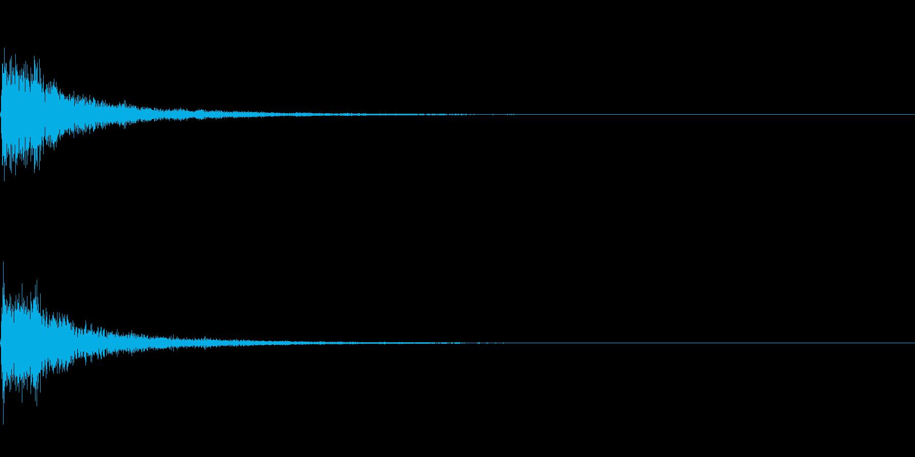 ジャンッ!(シンセのワンショット)の再生済みの波形