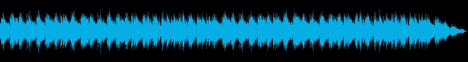 癒される雰囲気のオルゴールBGMの再生済みの波形