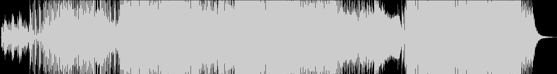 クリスマス曲エレクトロアレンジの未再生の波形