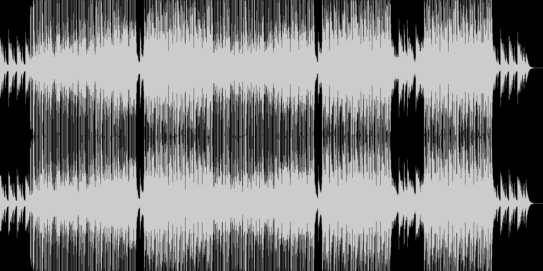 落ち着いた切ない感じのR&B曲の未再生の波形