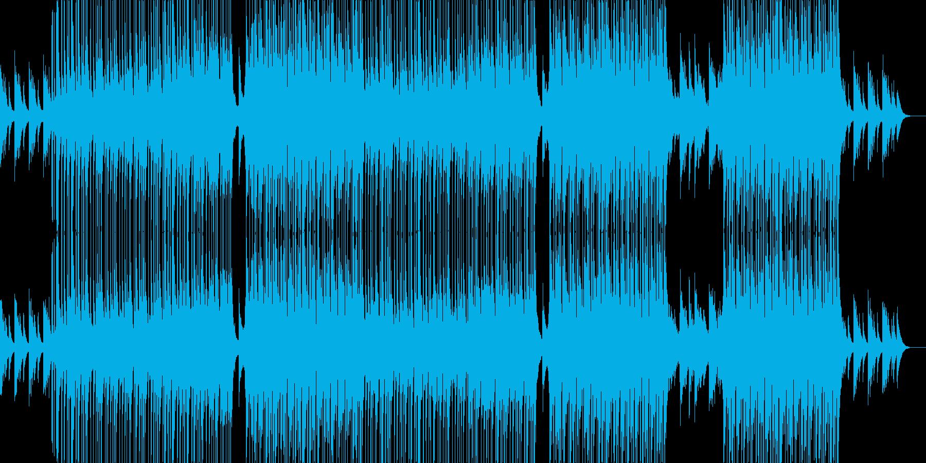落ち着いた切ない感じのR&B曲の再生済みの波形