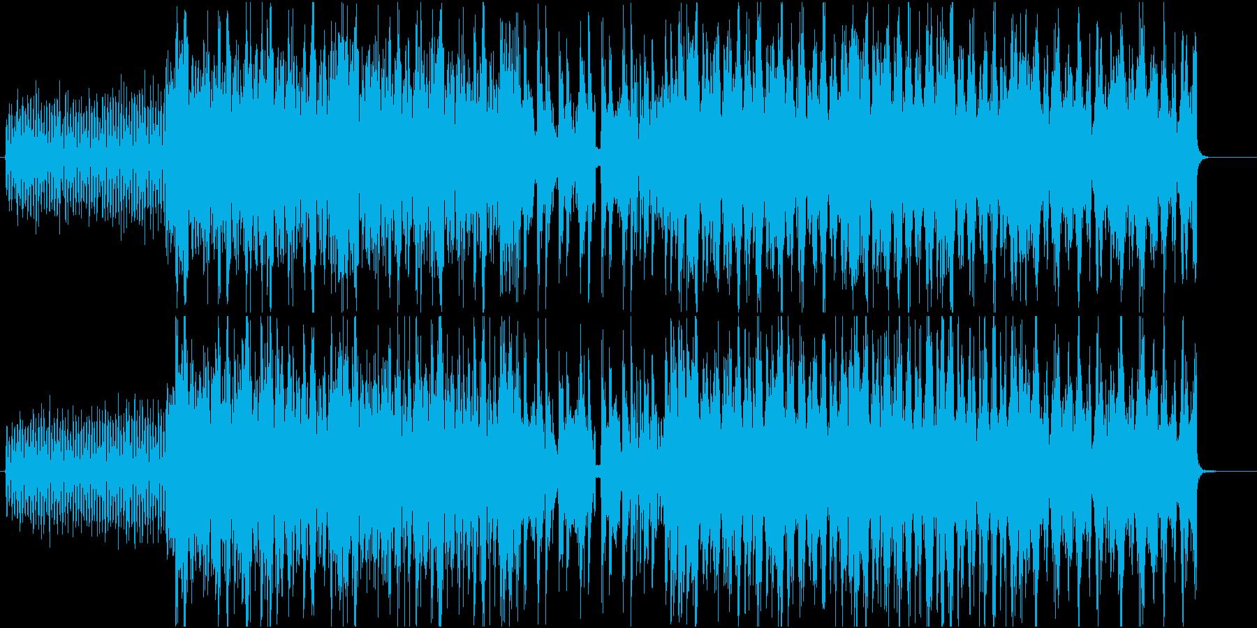 可愛く落ち着いた感じのFuture系楽曲の再生済みの波形