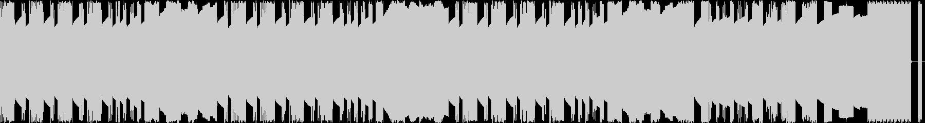 ループ可能なレトロゲーム風バトルBGMの未再生の波形
