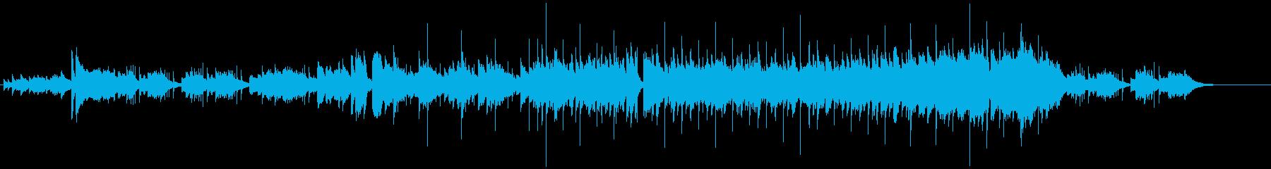 光沢のある滑らかなバラードの再生済みの波形
