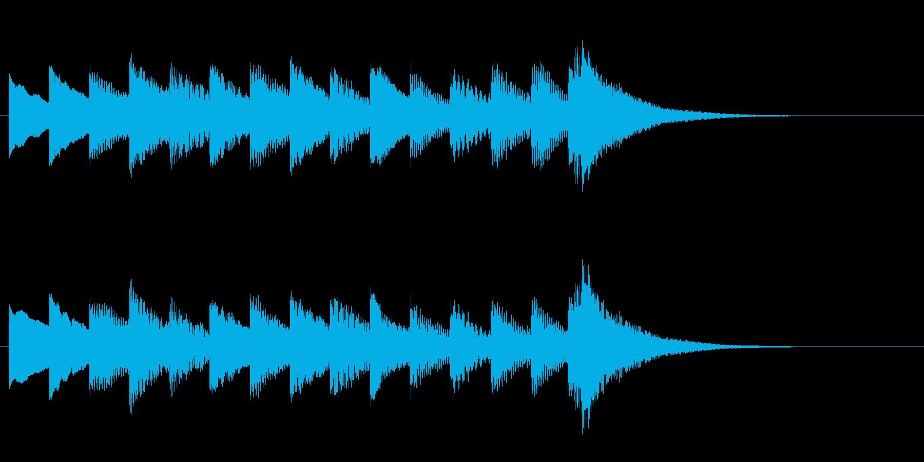 ほのぼのとした雰囲気のワンフレーズの再生済みの波形
