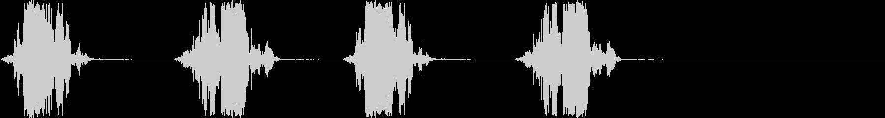 ザクザクザクザク 穴掘りの音の未再生の波形