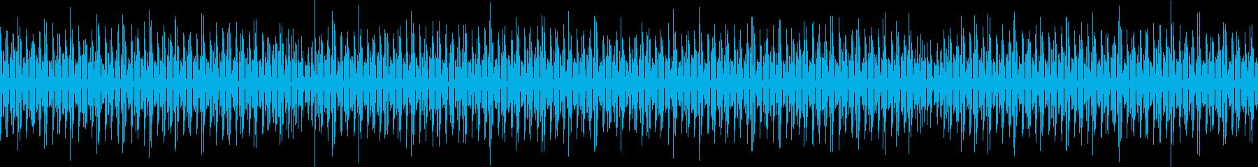 軽薄な感じのBGM4つ打ち ループ仕様の再生済みの波形