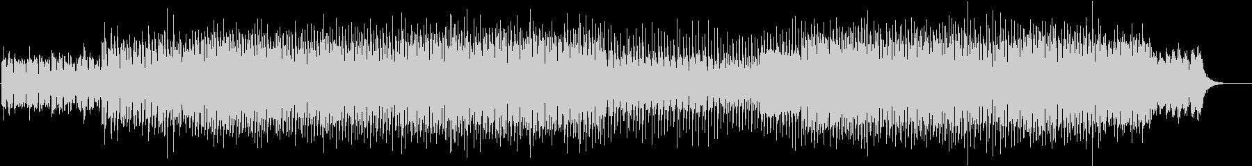 不穏な雰囲気のテクノBGMの未再生の波形