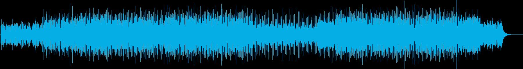 不穏な雰囲気のテクノBGMの再生済みの波形