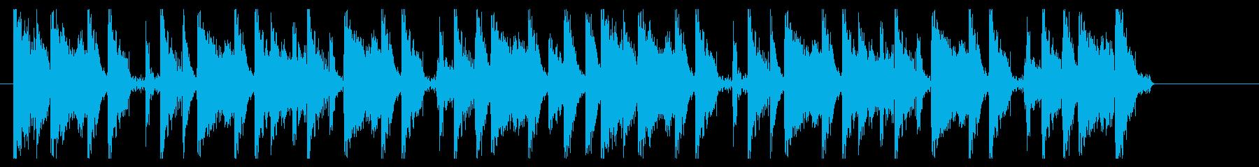 ヒップホップ調のオープニングの再生済みの波形