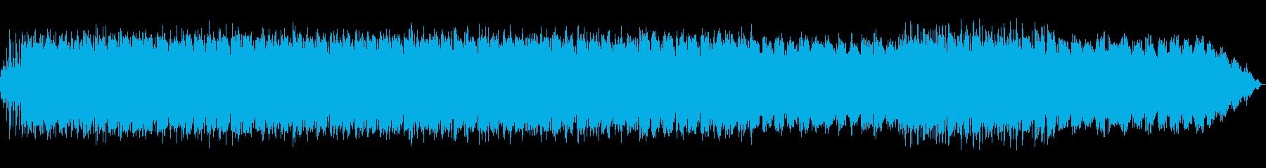 落ち着いたシンセサイザーのリラックス音楽の再生済みの波形