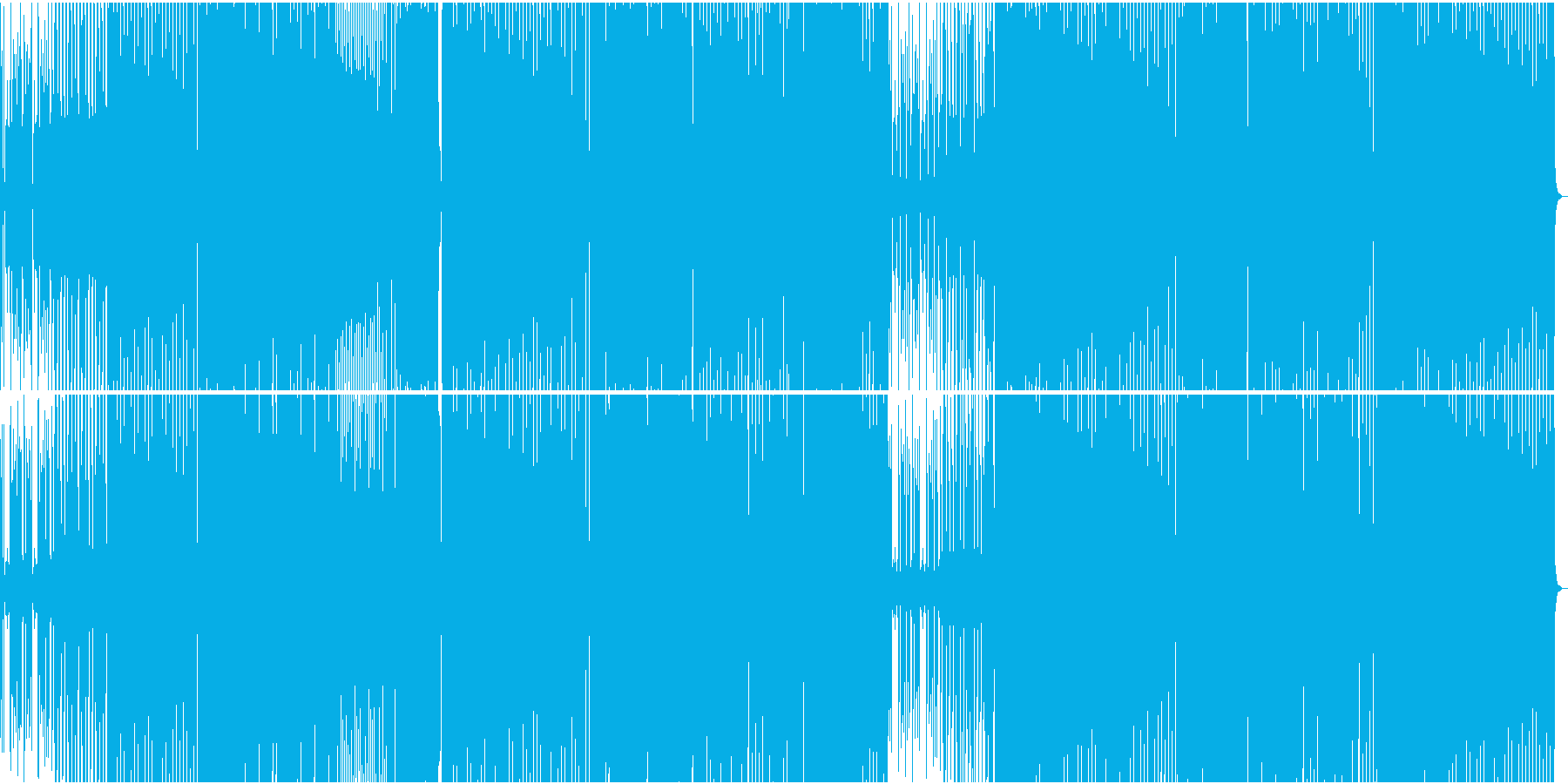 淡々と続くリズムがファンキーディスコ風の再生済みの波形