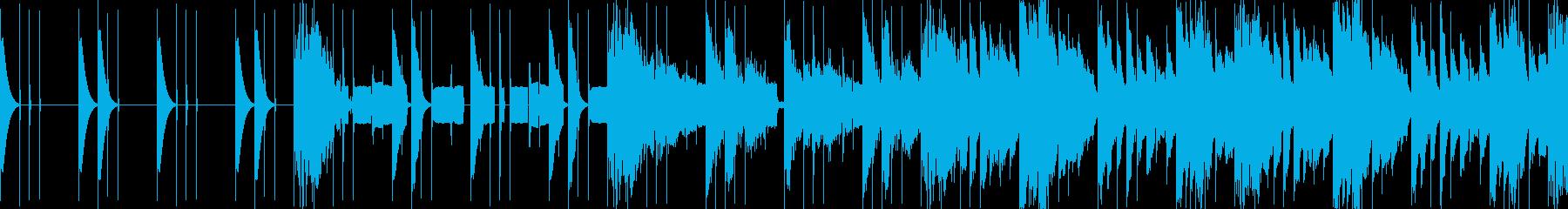 【ループ仕様】コミカルな曲の再生済みの波形
