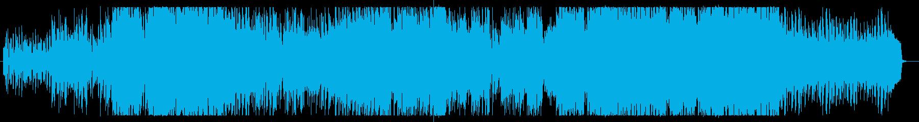 バンドサウンドのさわやかなポップスの再生済みの波形