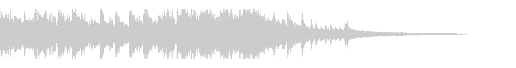 大人の華やかさがあるピアノジングルの未再生の波形