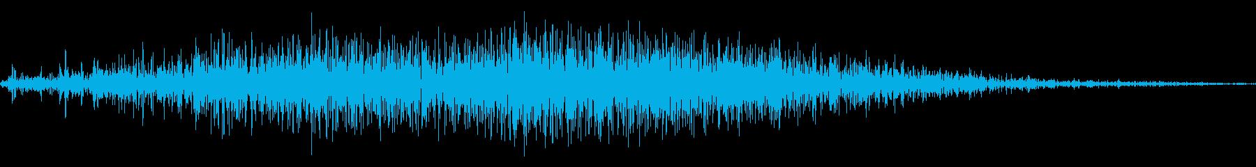 ザッ、シャッの再生済みの波形