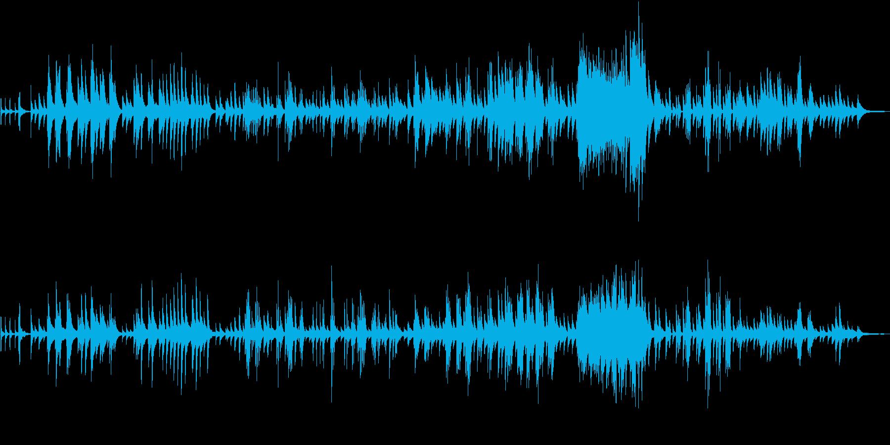 ピアノソロの即興曲の再生済みの波形