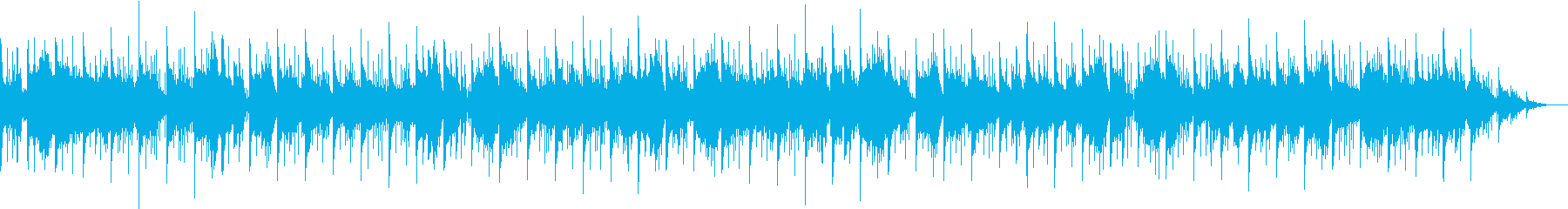 カノンコードとアルペジエーターを使った曲の再生済みの波形