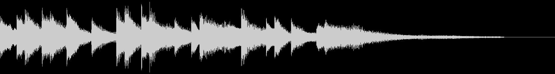 ハネたリズムのジングル ピアノソロの未再生の波形