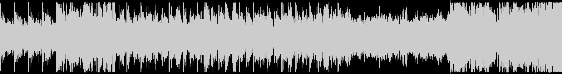 明るいオーケストラ曲 ループの未再生の波形