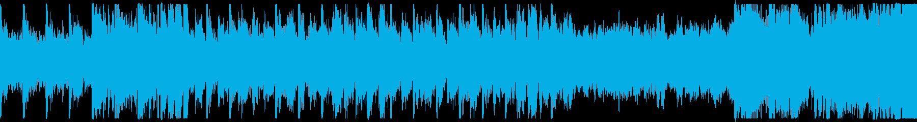 明るいオーケストラ曲 ループの再生済みの波形