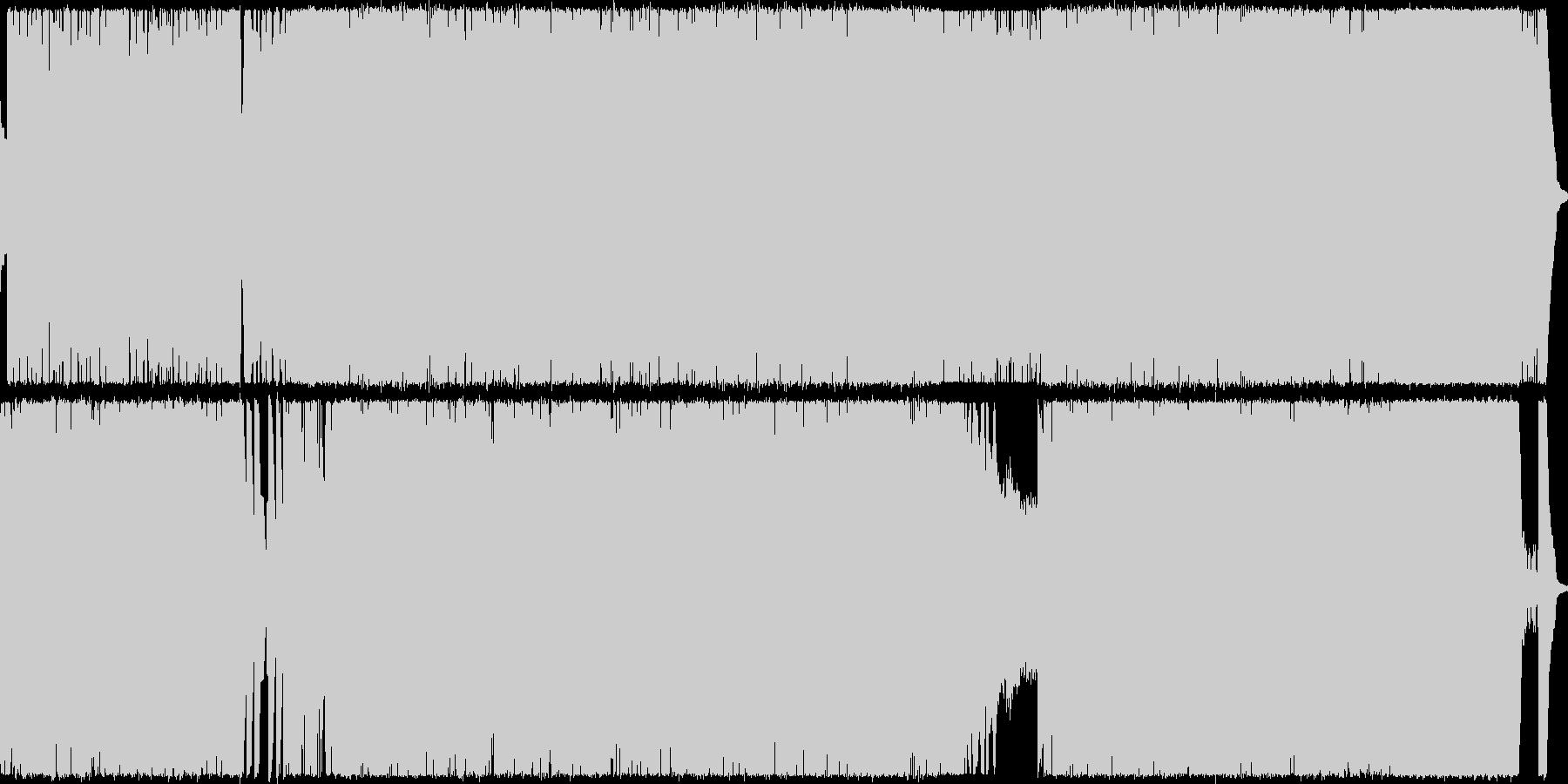 ミディアムテンポのメタルです、激しいシ…の未再生の波形