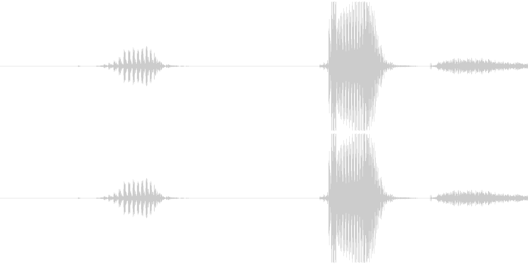 一発の未再生の波形