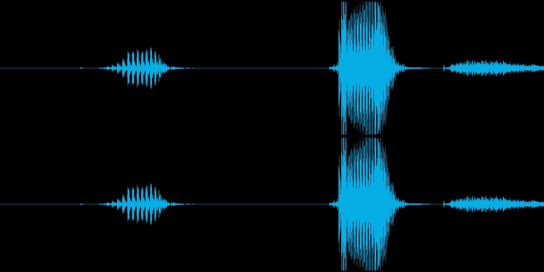 一発の再生済みの波形