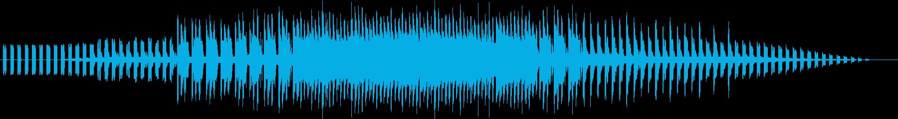 懐かしいゲーセンを思い出すチップチューンの再生済みの波形