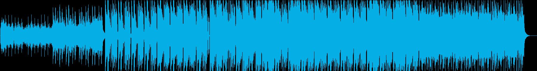 空撮映像などに合う重厚でクールなBGMの再生済みの波形