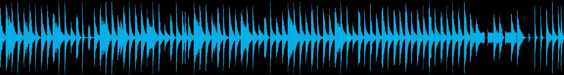 【ループ再生】コミカル・おっとり系BGMの再生済みの波形