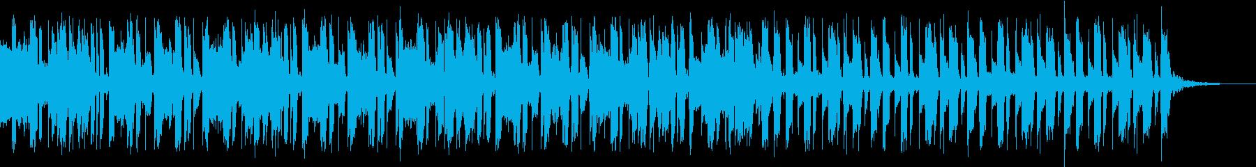 サイバー感のあるカッコいい曲の再生済みの波形