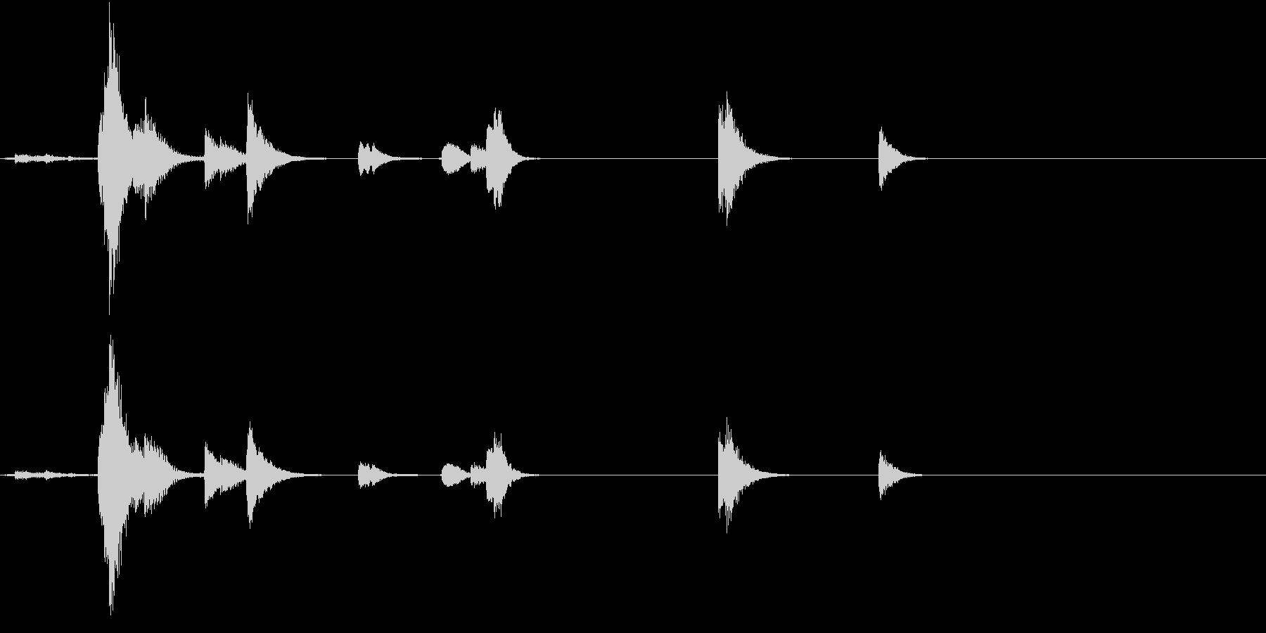 【生録音】TeaCup 食器の音 3の未再生の波形