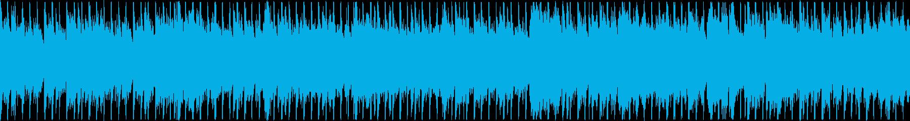 ピアノの旋律が印象的なオーケストラベースの再生済みの波形