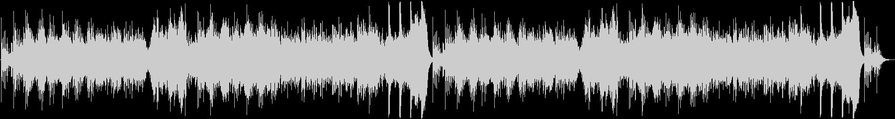 ピアノの旋律が印象的なホラーBGMの未再生の波形