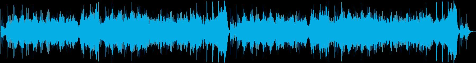 ピアノの旋律が印象的なホラーBGMの再生済みの波形