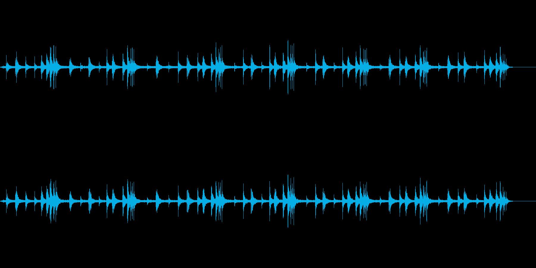 鳥の鳴き声【朝の公園】の再生済みの波形