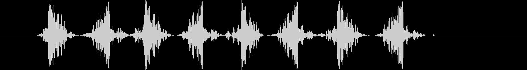 スクラッチ2slow(ズクズクズクズク)の未再生の波形