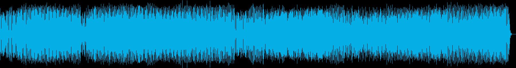 近未来なライブオープニングのイメージの再生済みの波形