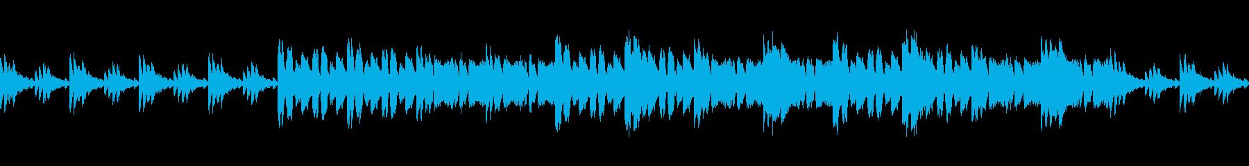 印象的なリズム刻みな曲の再生済みの波形