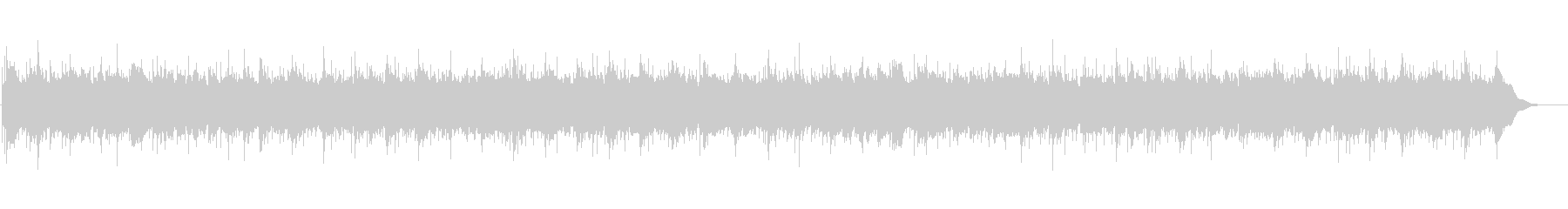 【オルゴール】エンディングの余韻を残す曲の未再生の波形