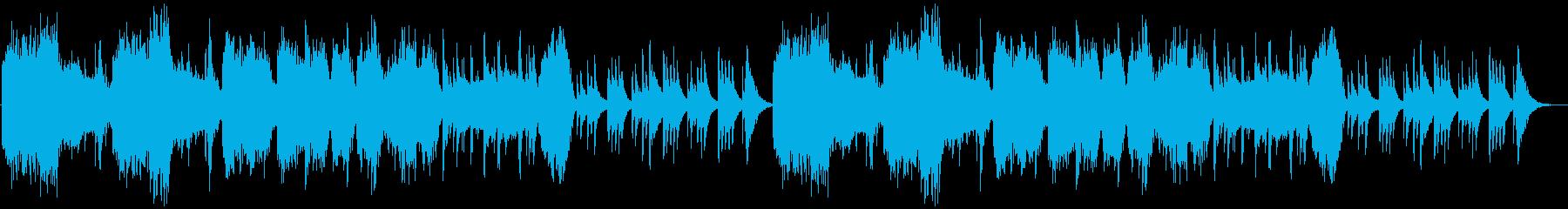 ミステリアスで静かな和風曲の再生済みの波形