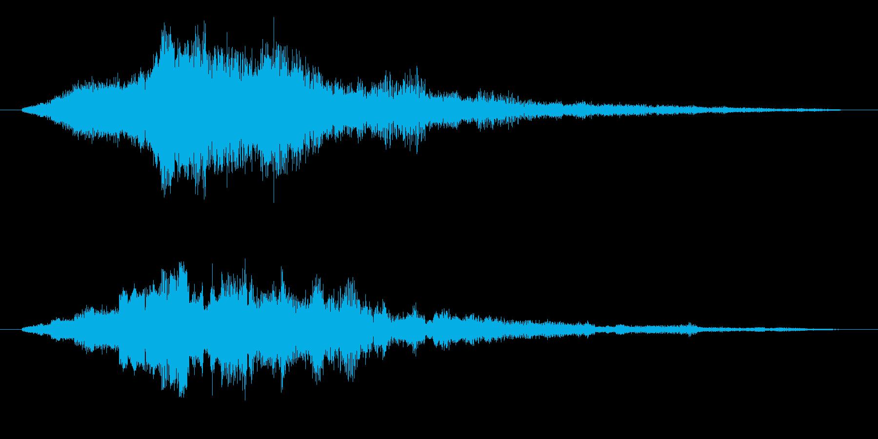 ゲーム 上昇音の再生済みの波形