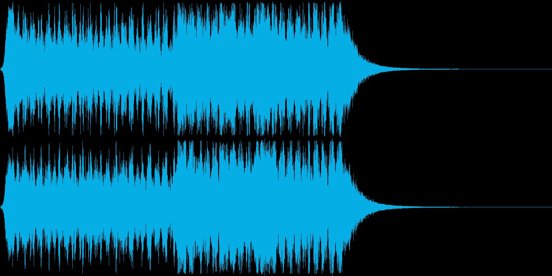 オーケストラ風の登場曲、オープニング曲の再生済みの波形