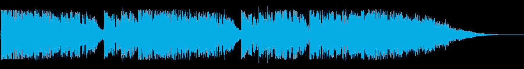 にぎやかなオープニングの効果音の再生済みの波形