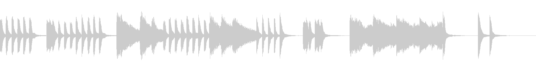 ピアノ;子どものコミカルな動きのイメージの未再生の波形