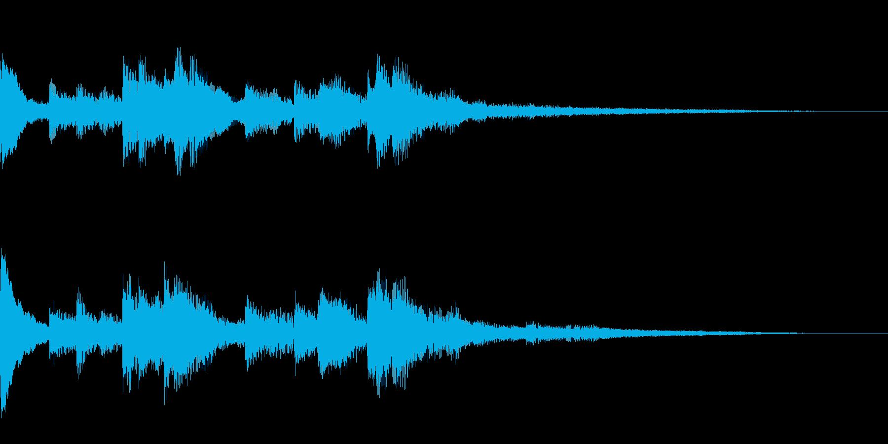 きれいなソロピアノジングルの再生済みの波形