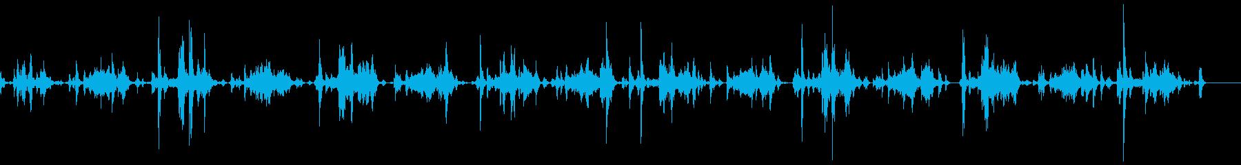 洗濯機の音(すすぎ)の再生済みの波形