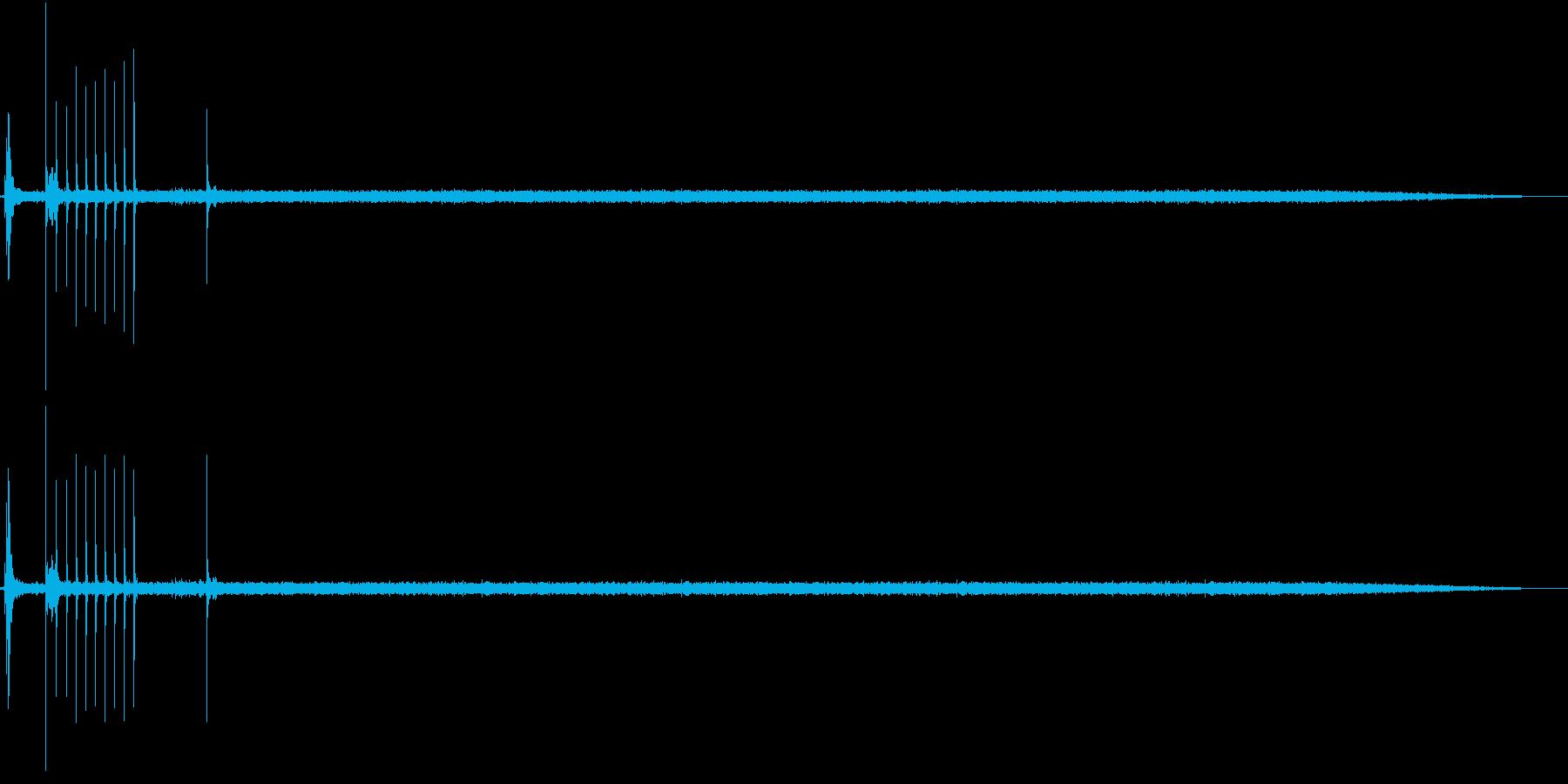 ガチャ!シュー☆ガスコンロの音 ロング1の再生済みの波形