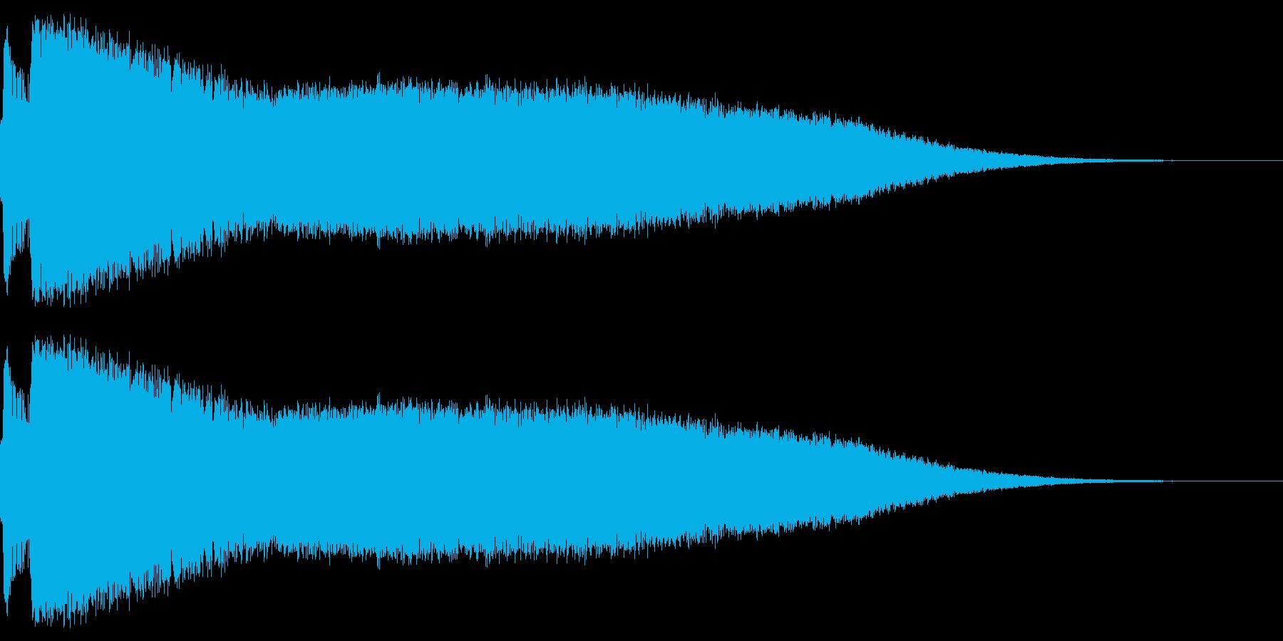 アニメにありそうなミサイルの発射音の再生済みの波形